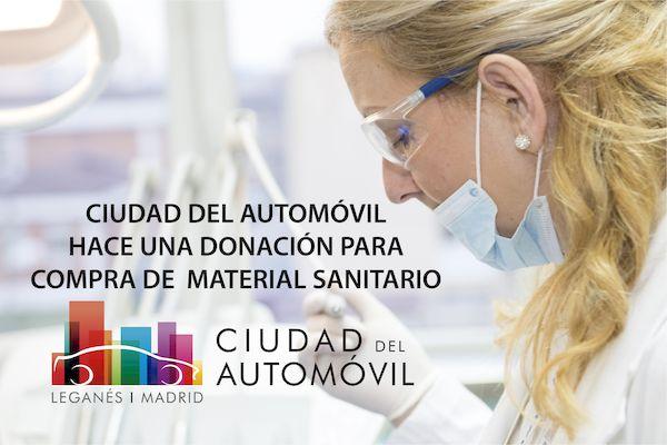 Ciudad del Automóvil hace una donación para la compra de material sanitario en la lucha contra el Covid-19
