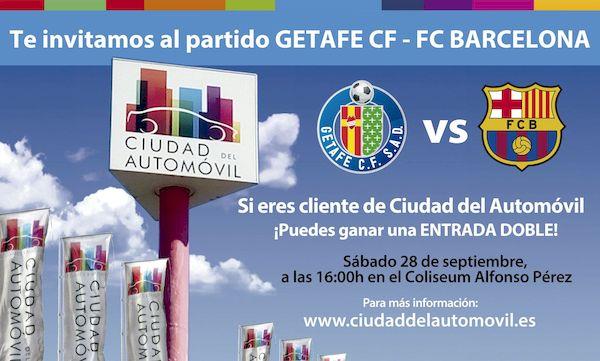 Entrega de entradas a los ganadores del sorteo para el partido Getafe CF vs FC Barcelona