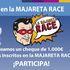 Entrega del cheque de 1.000€ al ganador del sorteo para la II Majareta Race