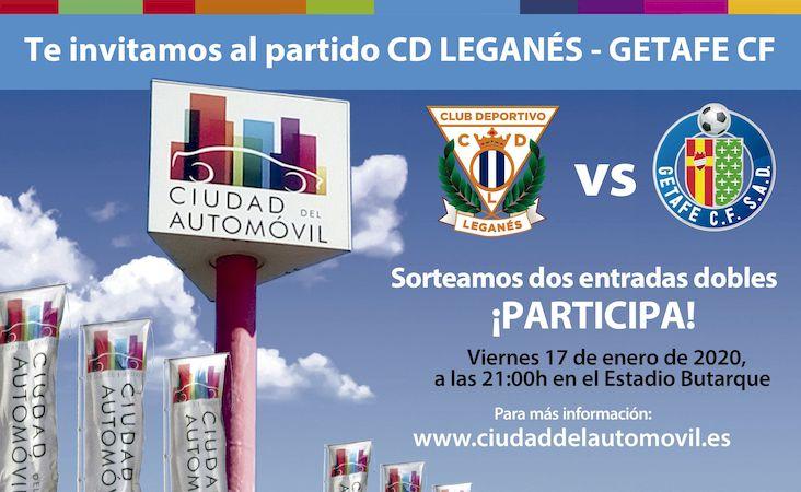 Entrega de entradas a las ganadoras del sorteo para el partido CD Leganés vs Getafe CF