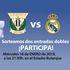 Entrega de entradas a los ganadores del sorteo para el partido CD Leganés vs Real Madrid