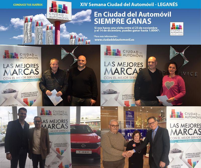 Entrega de cheques a los ganadores de la XIV SEMANA CIUDAD DEL AUTOMÓVIL DE LEGANÉS