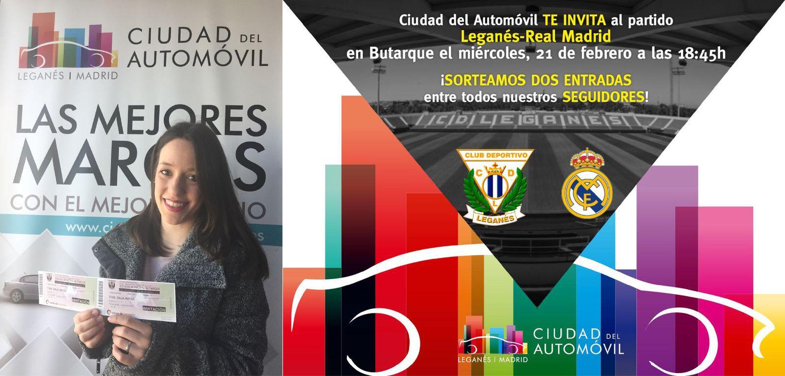 Marta Merino Torres, ganadora de nuestro concurso para ver al Club Deportivo Leganés vs Real Madrid