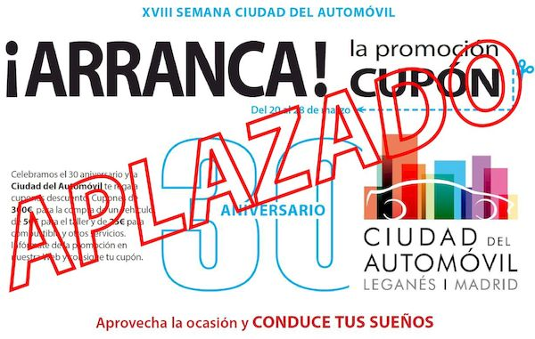¡APLAZADO! XVIII Semana Ciudad del Automóvil