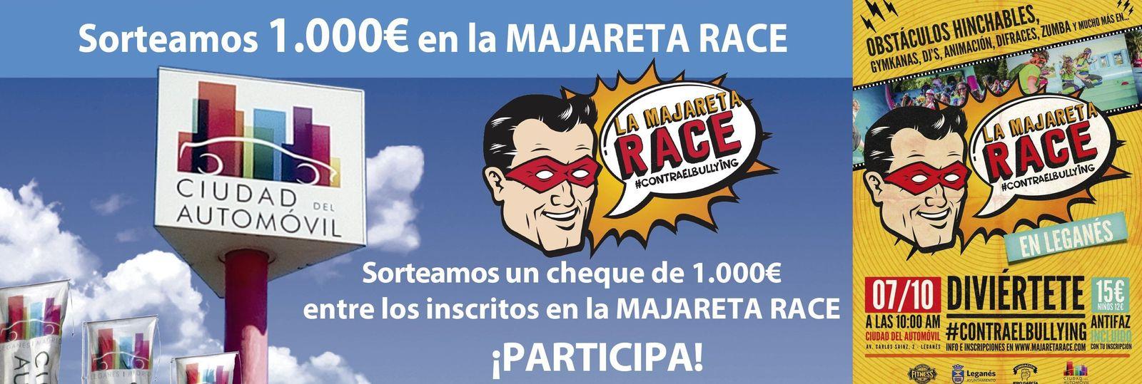 Ciudad del Automóvil sorteo de 1000 euros Cheque Majareta Race