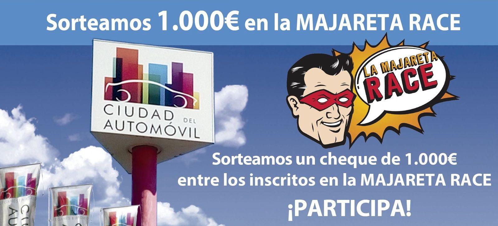 La ciudad del automovil leganes sortea 1000 euros majareta race