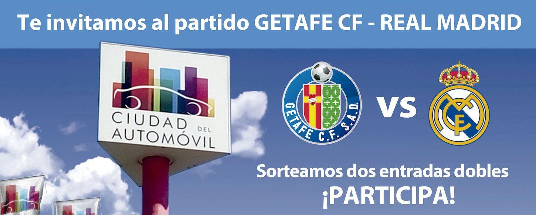Ciudad del Automóvil sorteo de dos entradas dobles para el partido Getafe vs. Real Madrid